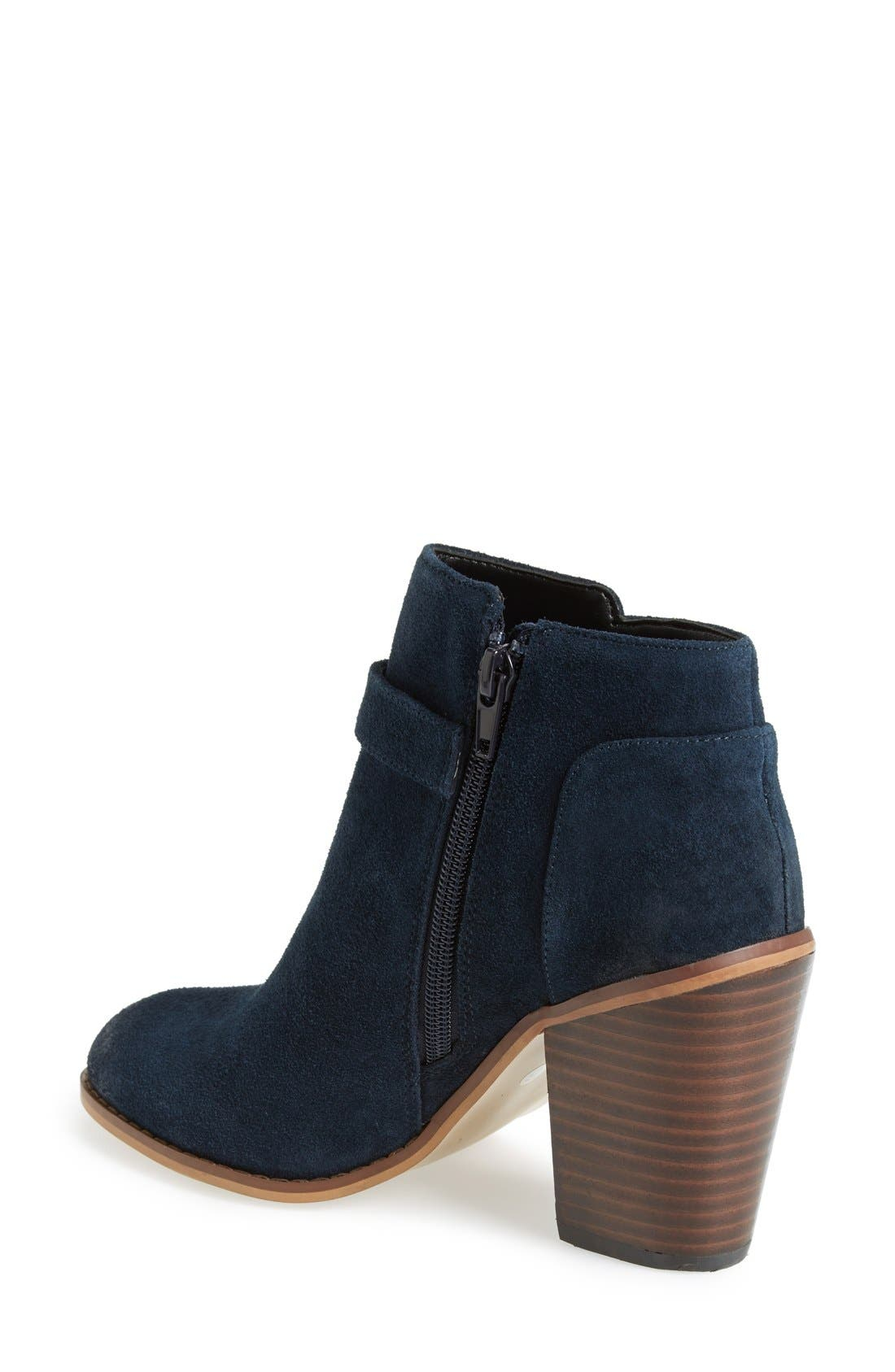 'Lyriq' Bootie,                             Alternate thumbnail 2, color,                             Ink Navy Suede