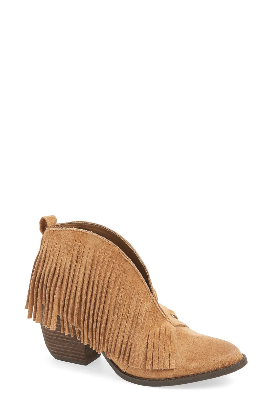 Alternate Image 1 Selected - Matisse Lambert Fringe Bootie (Women)