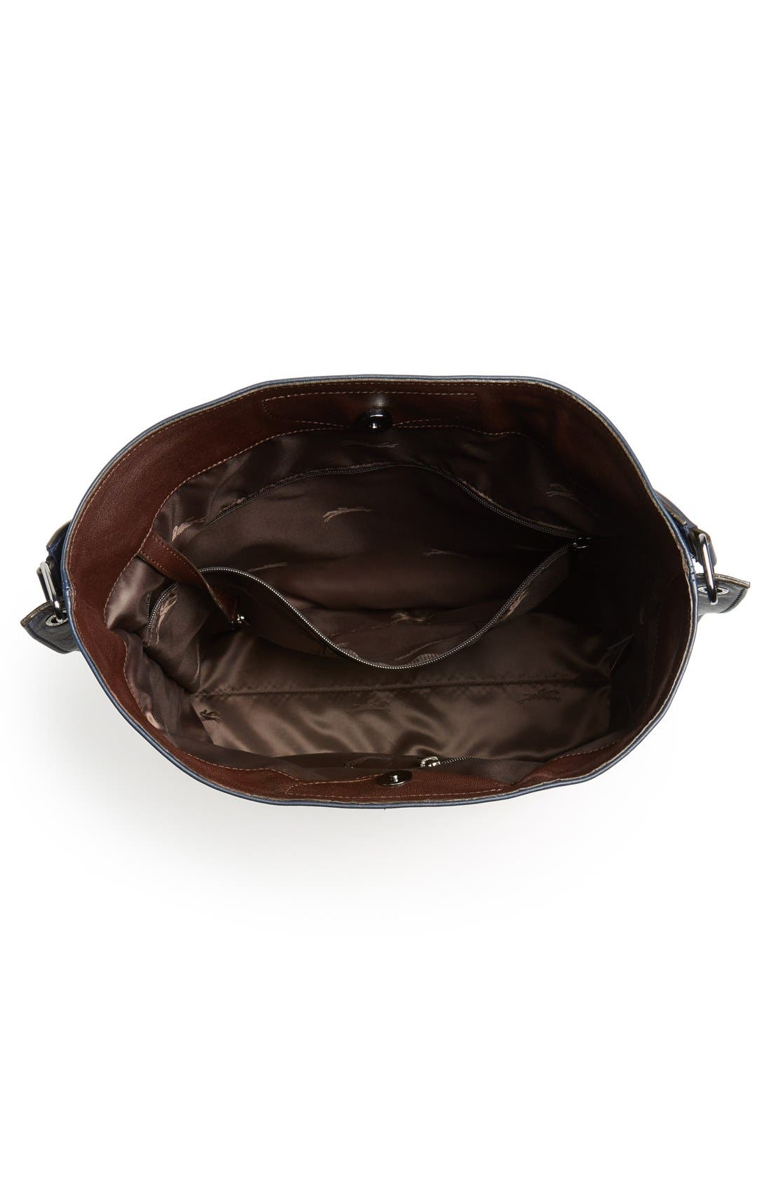 '3D' Leather Hobo,                             Alternate thumbnail 4, color,                             Midnight