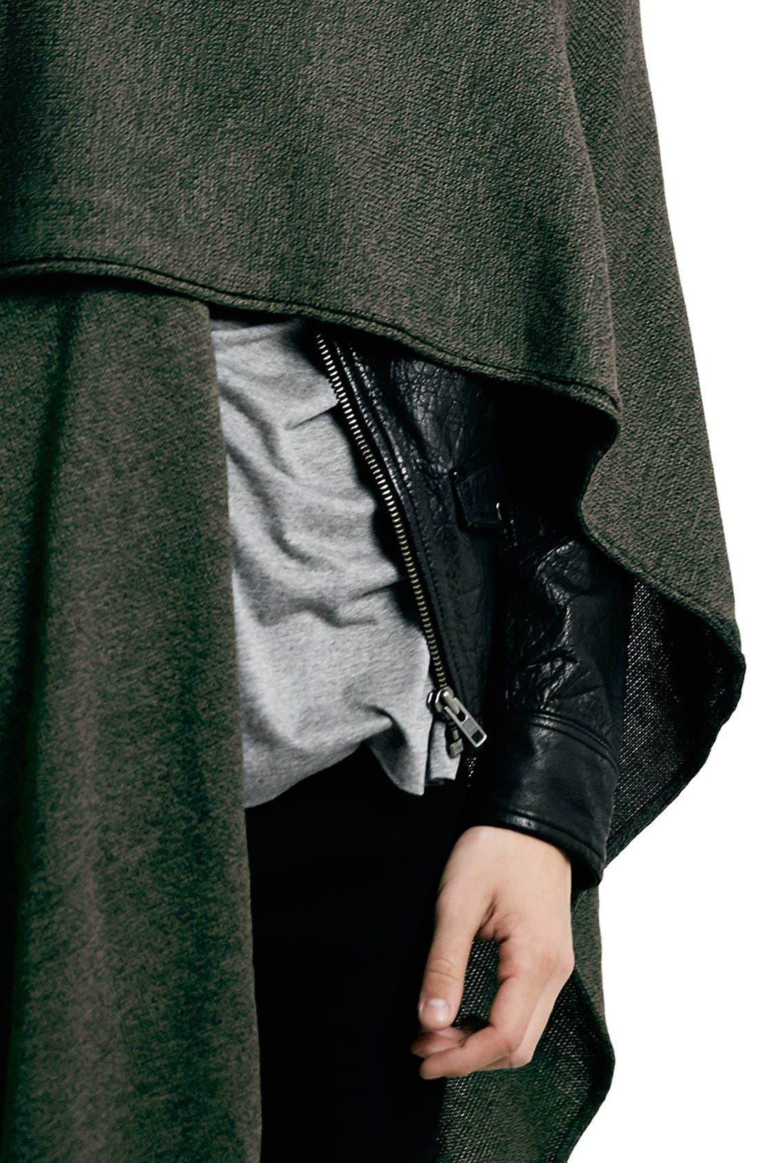 Alternate Image 3  - TopmanWrap Knit Cape