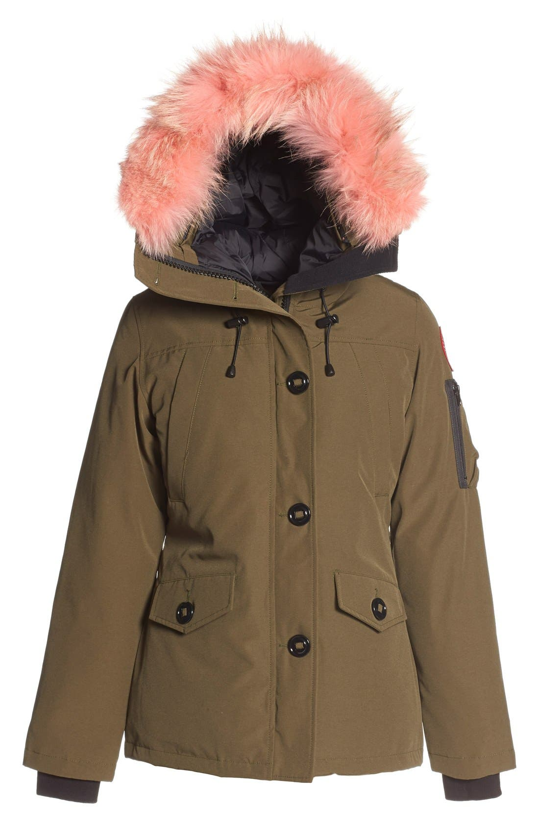 Alternate Image 1 Selected - Canada Goose 'Montebello' Down Parka with Interchangeable Genuine Coyote Fur Trim (Women)