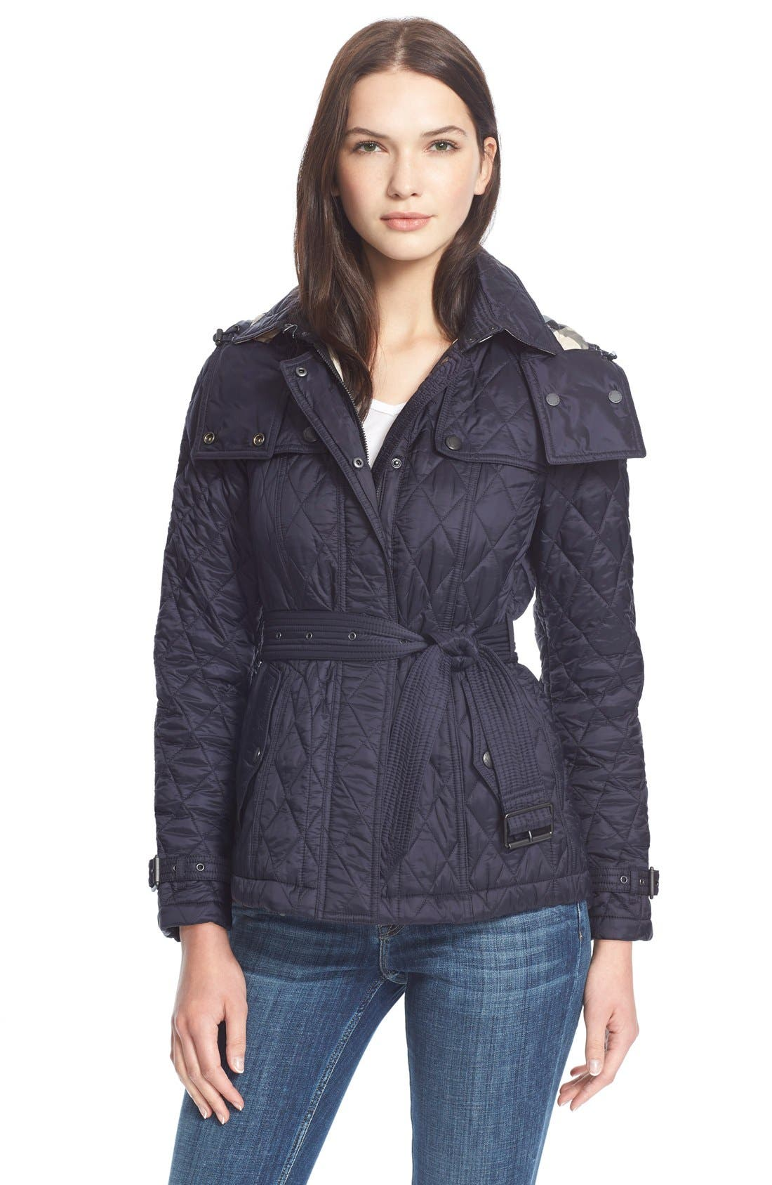 Burberry Brit 'Finsbridge' Short Quilted Jacket