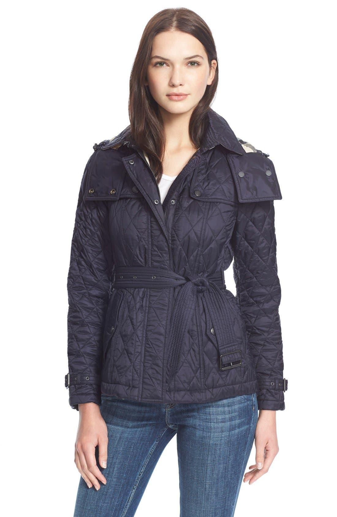 Burberry Brit 'Finsbridge' ShortQuilted Jacket