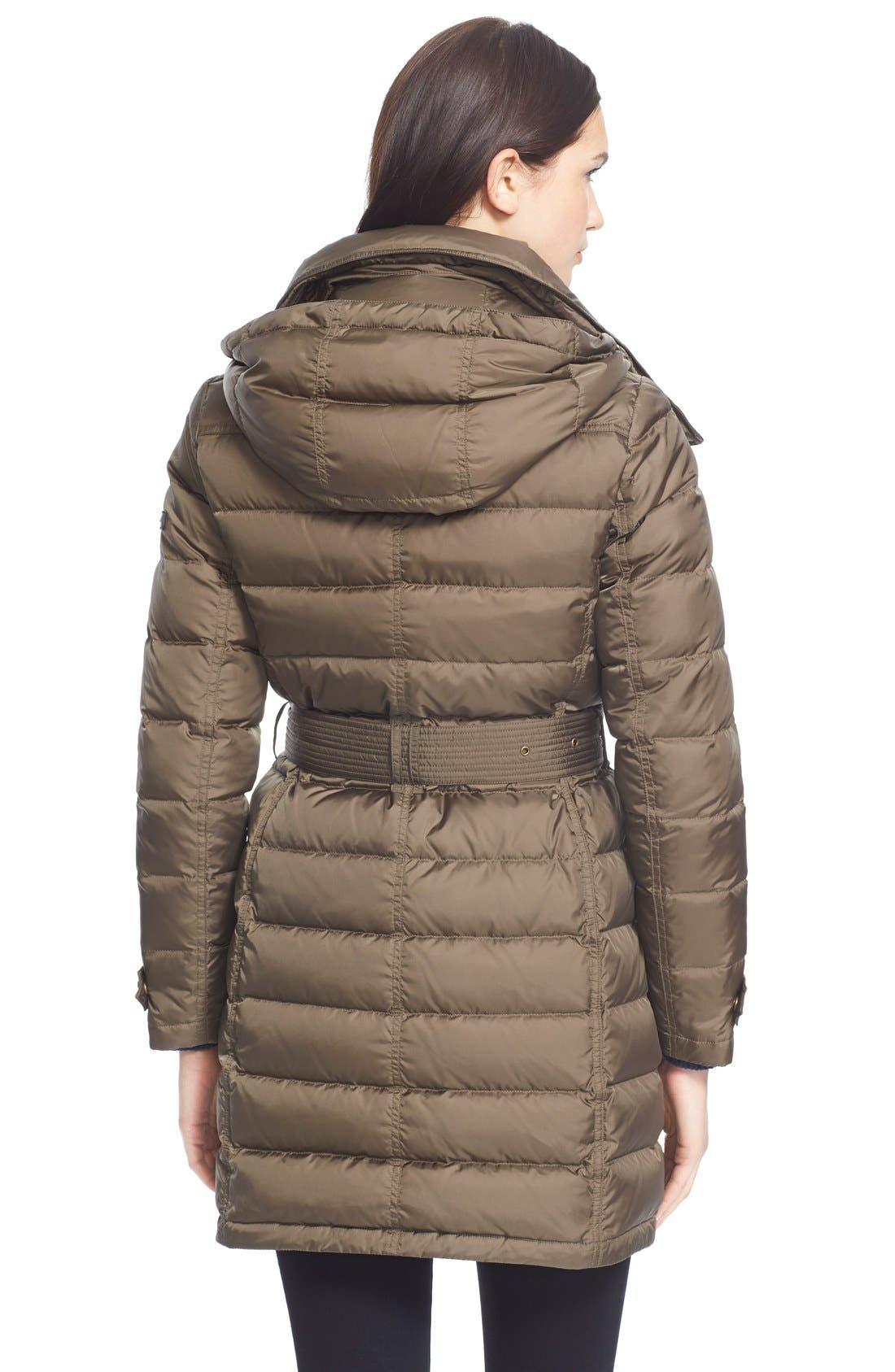 Alternate Image 2  - BurberryBrit'Winterleigh' Belted Down Coat