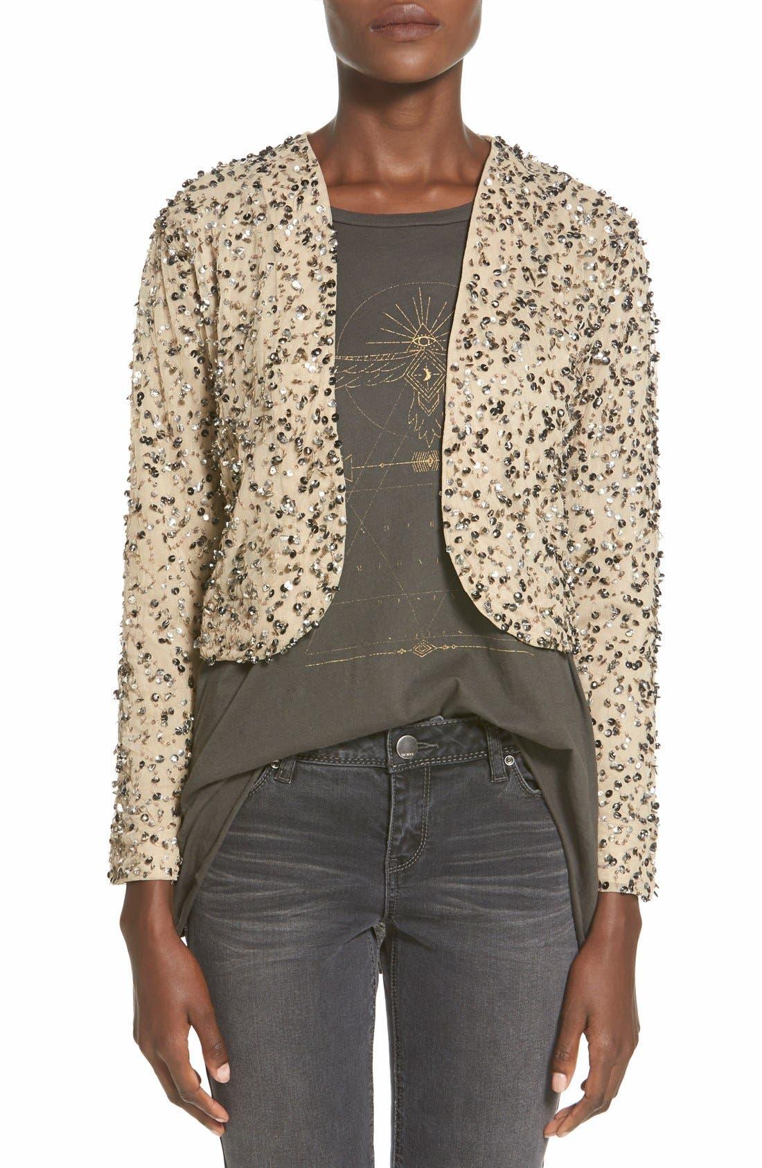 Alternate Image 1 Selected - Billabong 'Eyes on Me' Sequin Cutaway Jacket