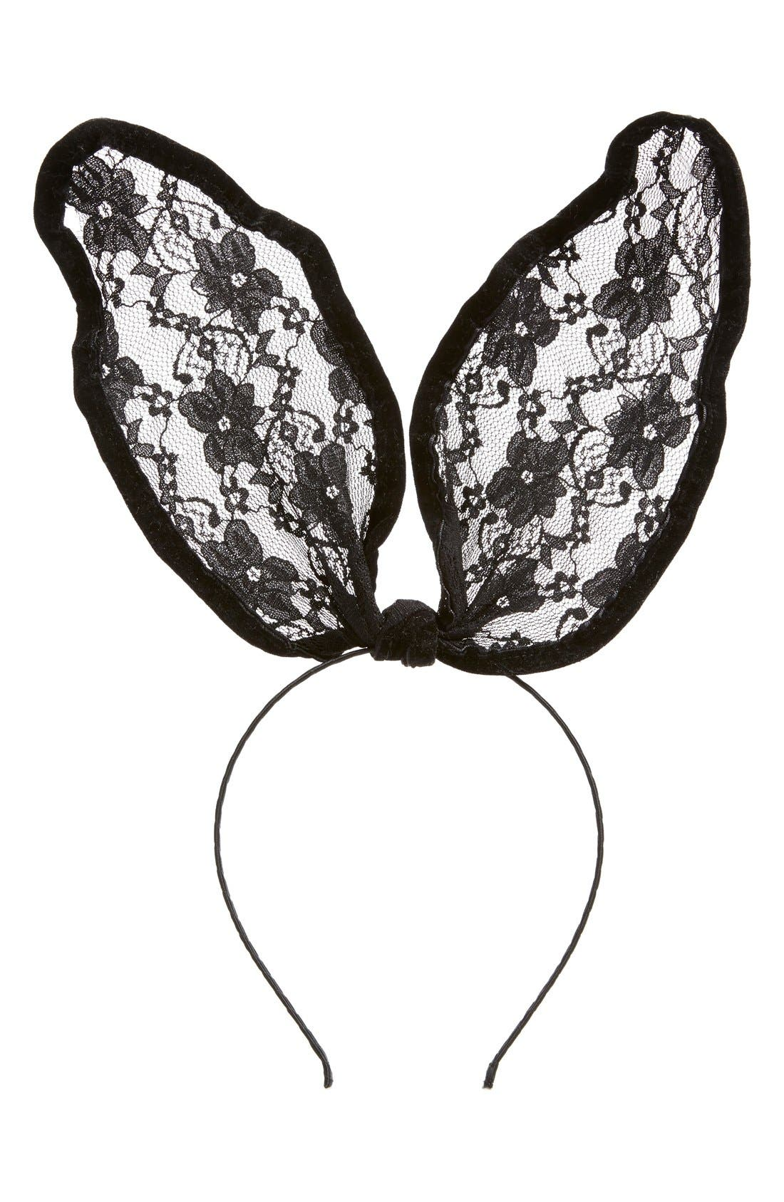 Main Image - Cara 'Drama' Lace Bunny Ear Headband