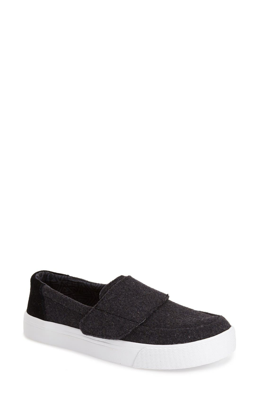 Alternate Image 1 Selected - TOMS 'Altair' Felt Suede Slip On (Women)