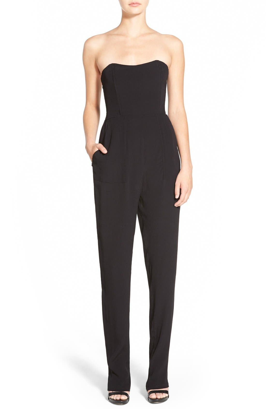 Alternate Image 1 Selected - WAYF Strapless Jumpsuit