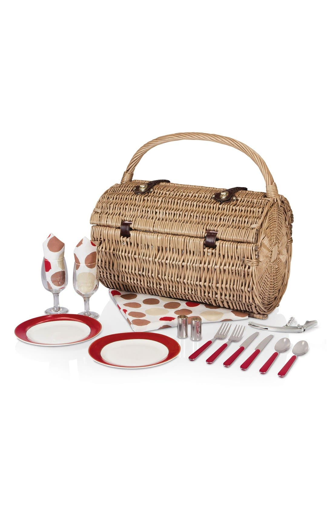 Alternate Image 2  - Picnic Time 'Barrell' Wicker Picnic Basket