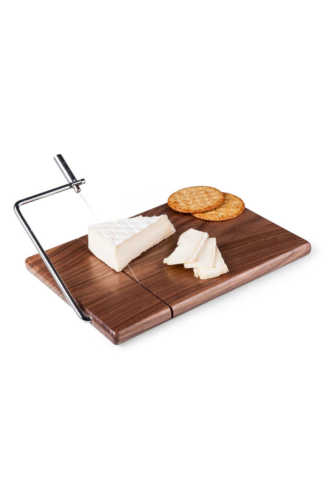 'Meridian' Black Walnut Cutting Board with Slicer,                             Main thumbnail 1, color,                             Black