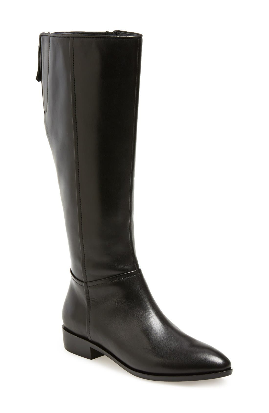 'Lover' Boot,                             Main thumbnail 1, color,                             Black Smooth Leather