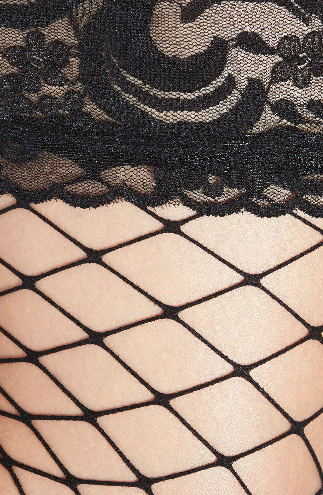 Alternate Image 2  - Nordstrom Net Thigh High Stockings