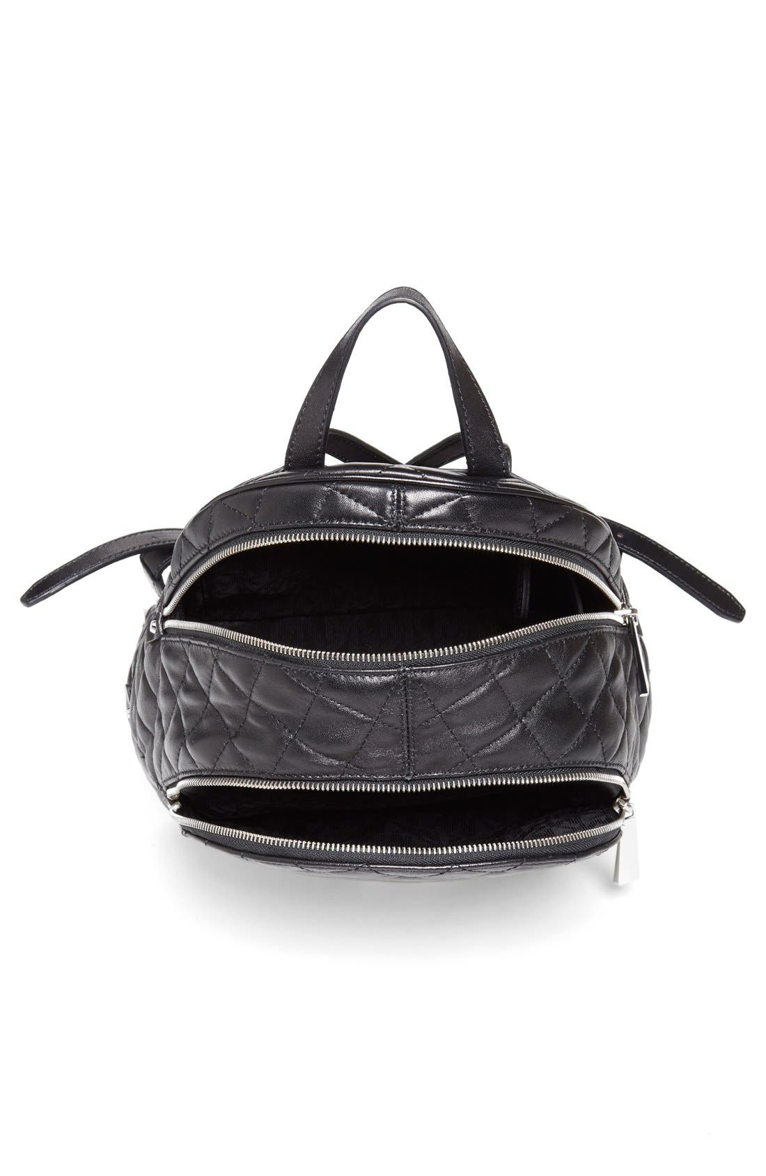Alternate Image 4  - MICHAEL Michael Kors 'Medium Rhea Zip' Quilted Backpack (Nordstrom Exclusive)