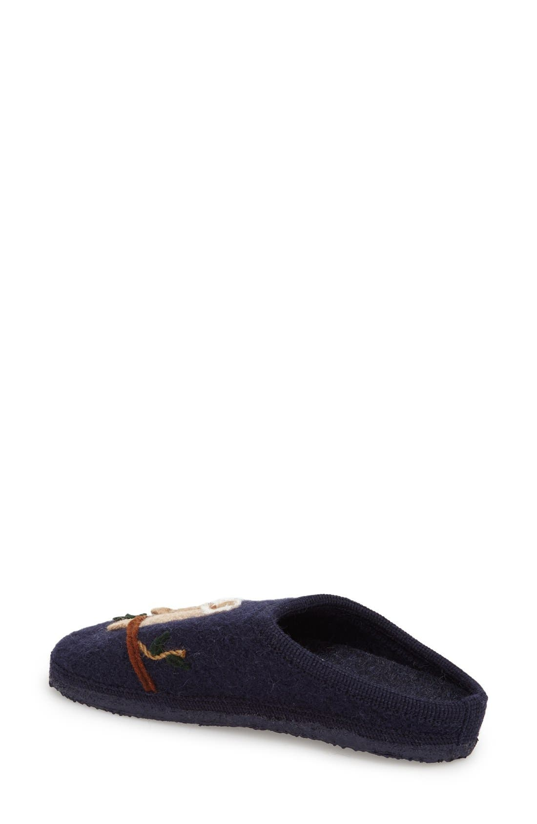 'Mado' Wool Slipper,                             Alternate thumbnail 2, color,                             Navy Wool