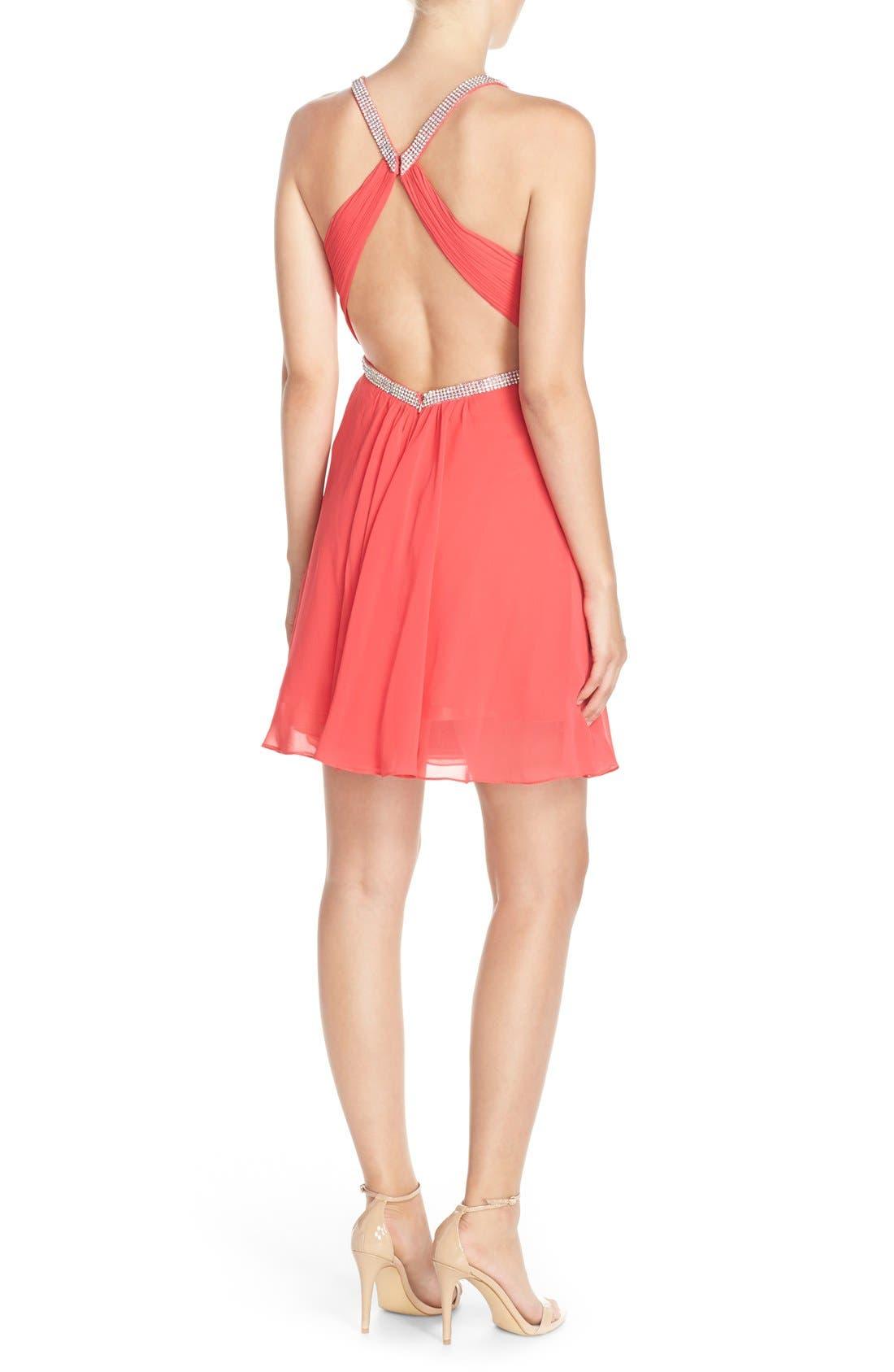 Alternate Image 2  - FavianaEmbellished Chiffon Fit& Flare Dress