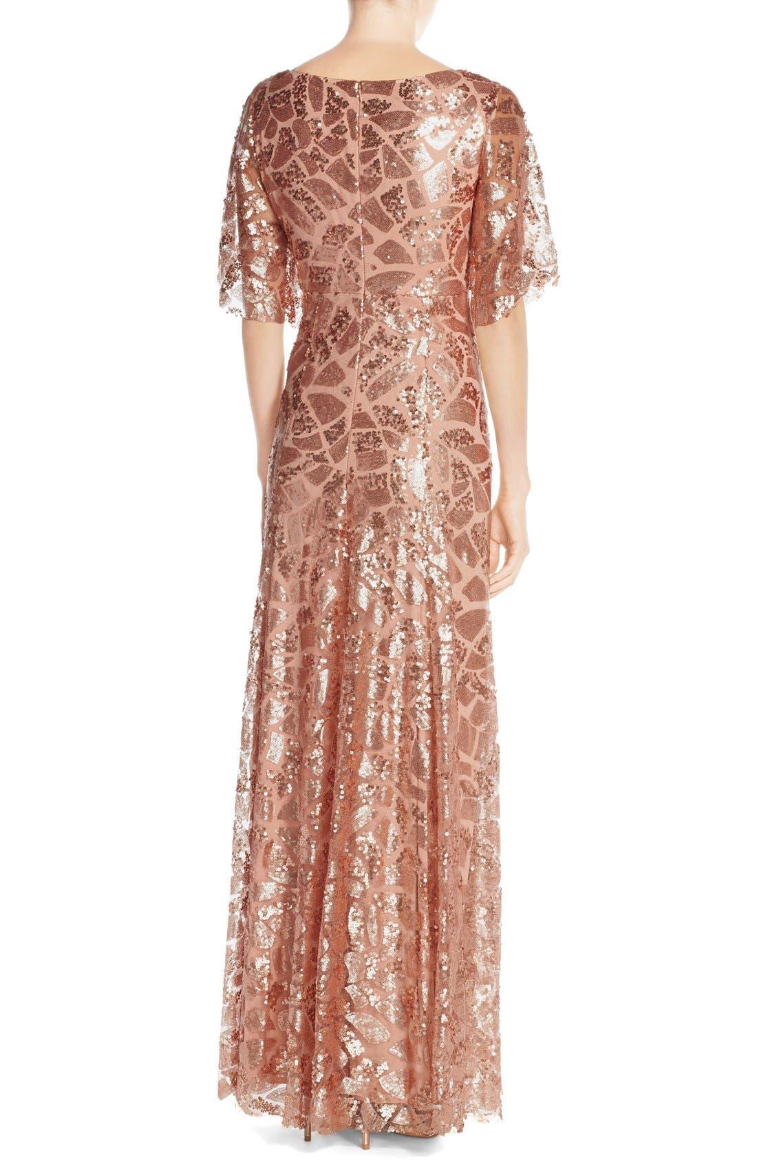 Alternate Image 2  - Donna Morgan 'Camilla' Sequin Flutter Sleeve Gown