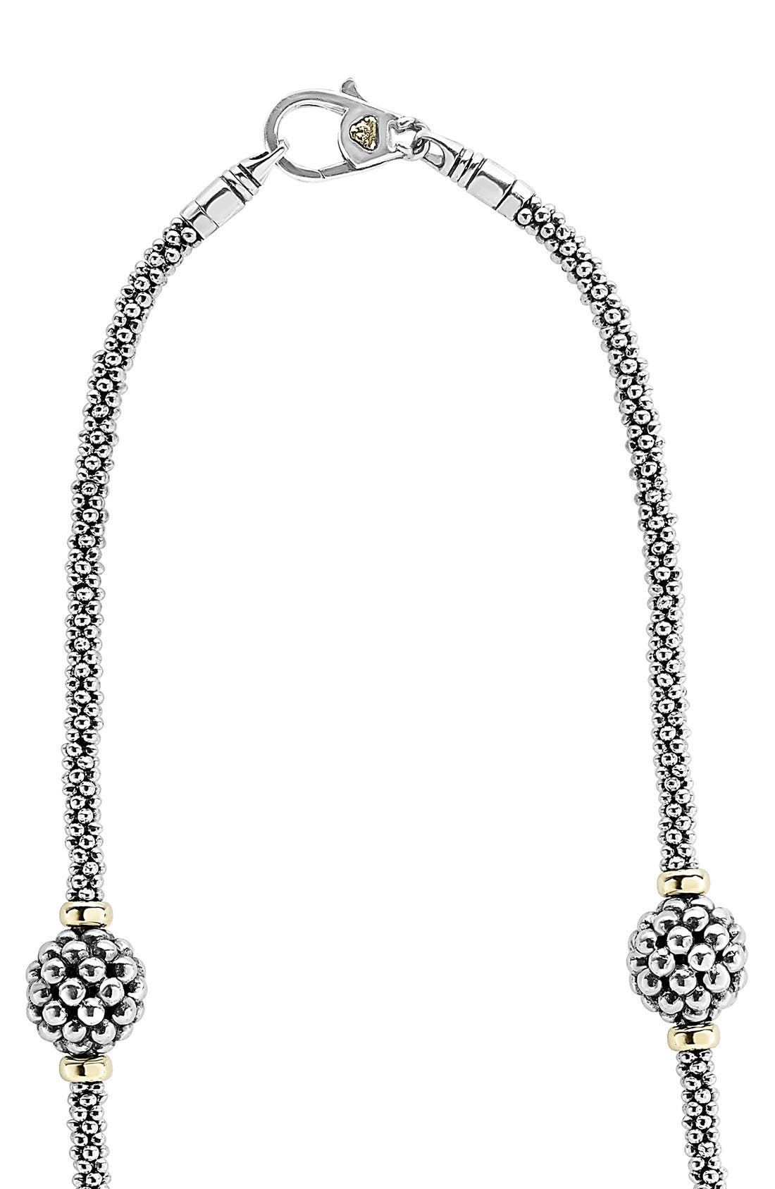 'Caviar Forever' Station Rope Necklace,                             Alternate thumbnail 2, color,                             Silver/ Gold