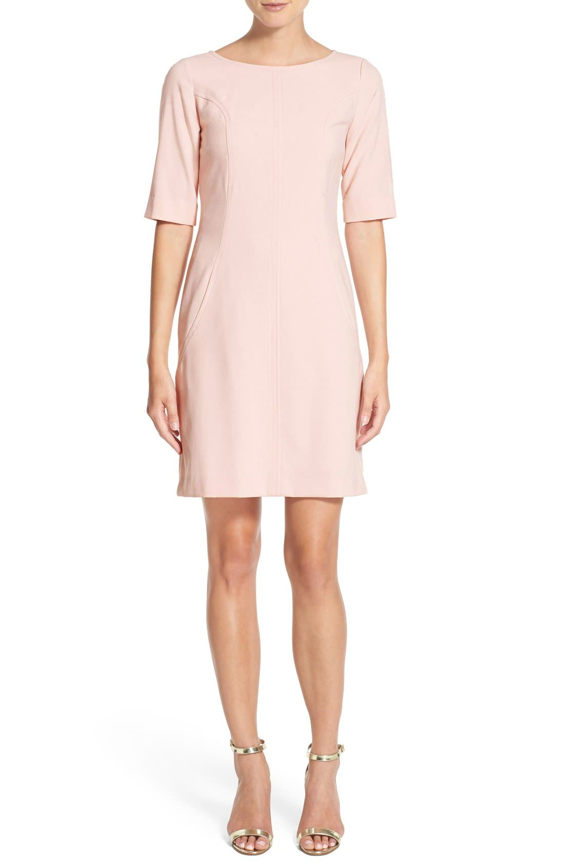 Alternate Image 4  - Tahari Seamed A-Line Dress (Regular & Petite)