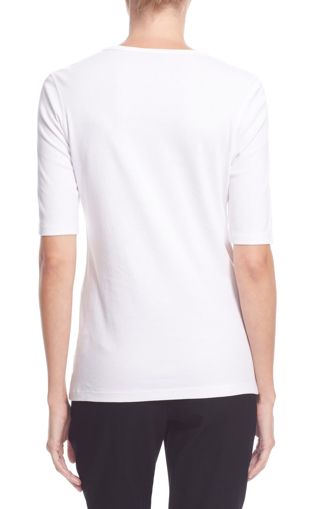 Pima Cotton Top,                             Alternate thumbnail 2, color,                             White