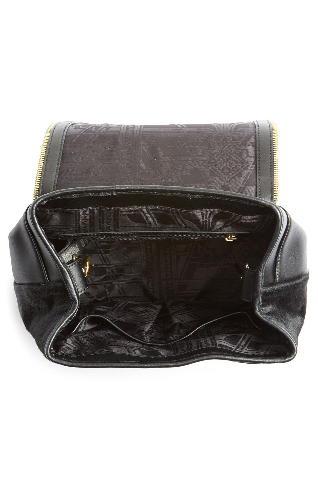 Alternate Image 4  - Ted Baker London Genuine Calf Hair & Leather Backpack