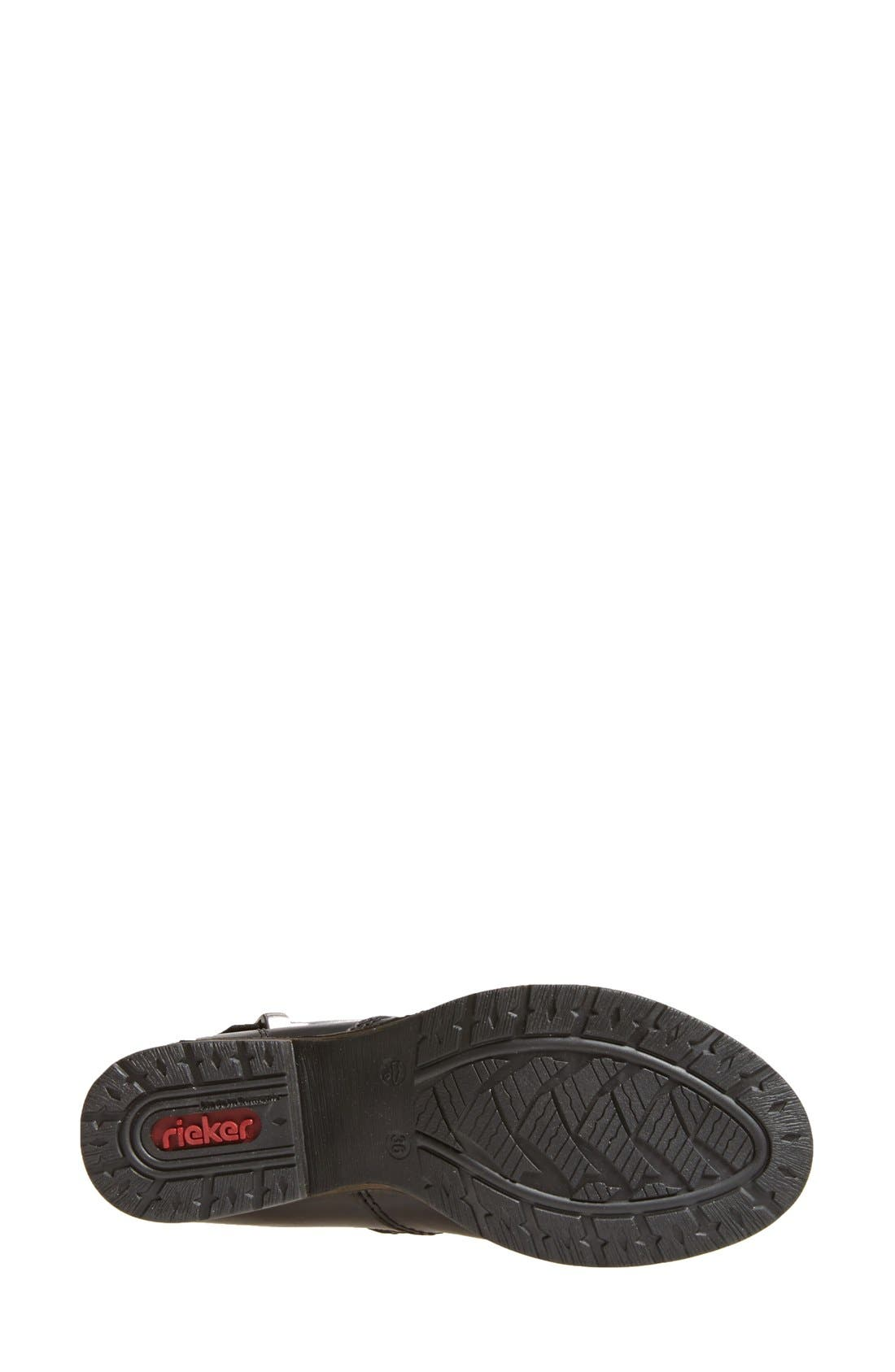 RiekerAntistress 'Faith 80' Tall Boot,                             Alternate thumbnail 4, color,                             Black Leather