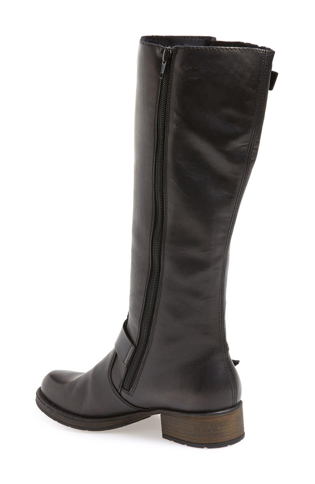 RiekerAntistress 'Faith 80' Tall Boot,                             Alternate thumbnail 2, color,                             Black Leather