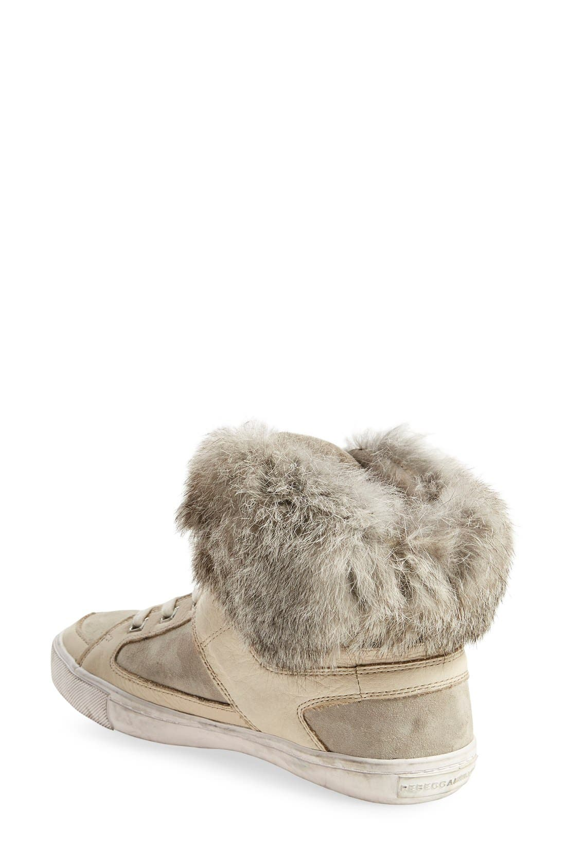Alternate Image 2  - Rebecca Minkoff'Shiloh' Genuine Rabbit Fur CollarSneaker (Women)