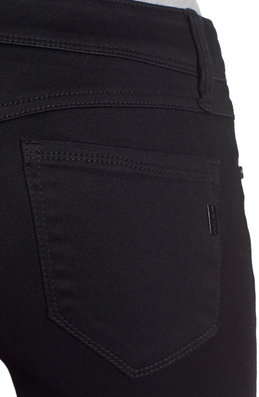 Butter Skinny Jeans,                             Alternate thumbnail 4, color,                             Black