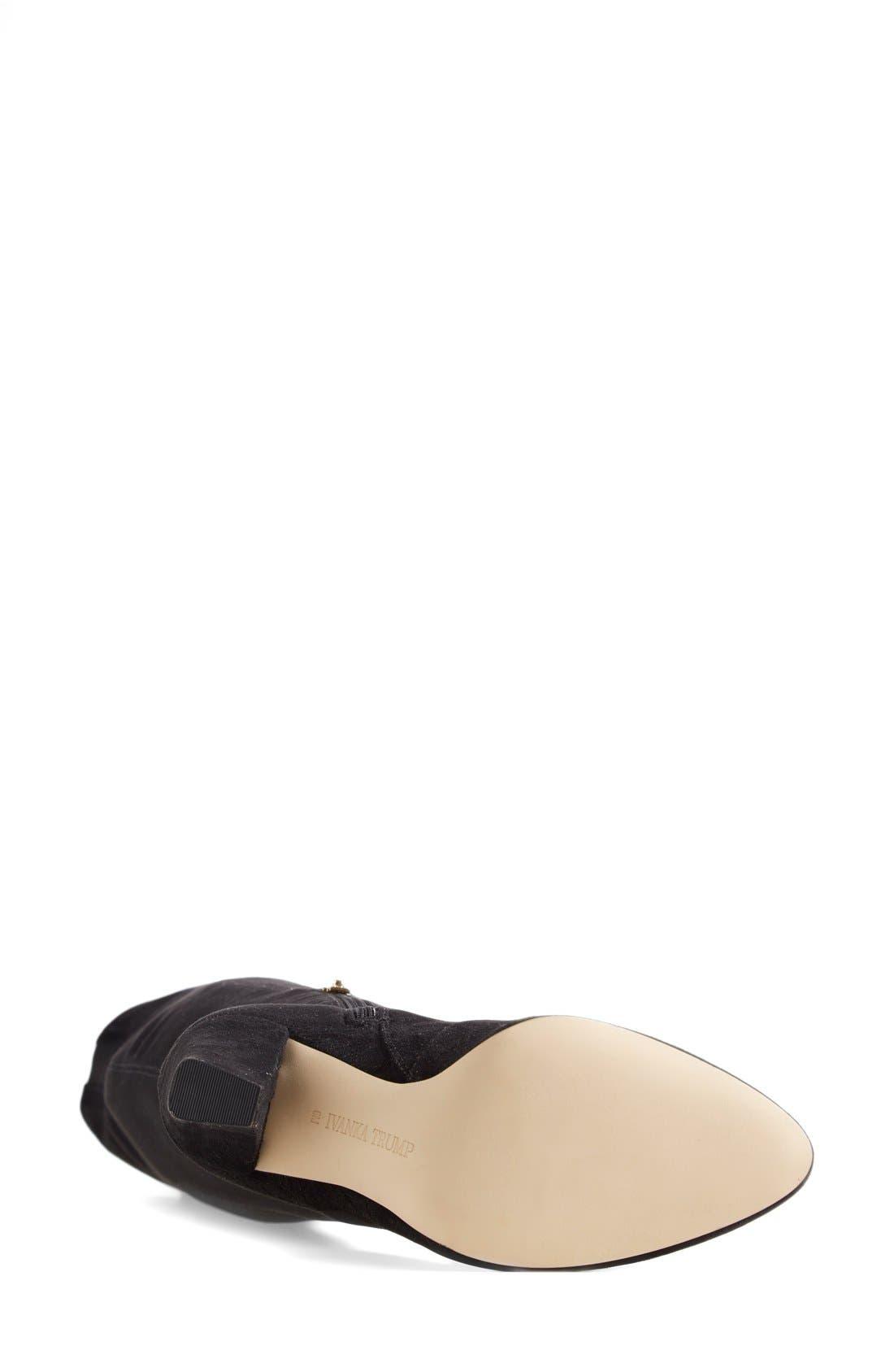 Alternate Image 4  - IvankaTrump 'Saffri' Over the Knee Suede Boot (Women)