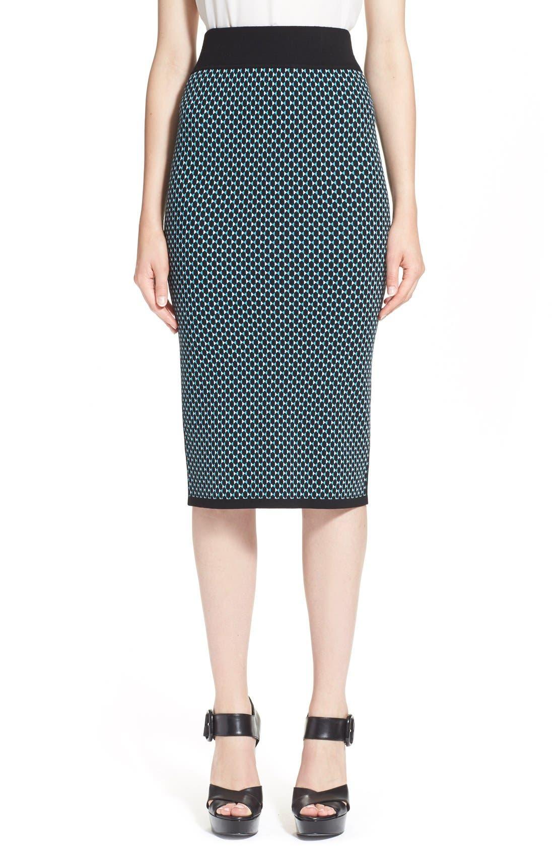 Alternate Image 1 Selected - Michael KorsDiamond Jacquard Pencil Skirt