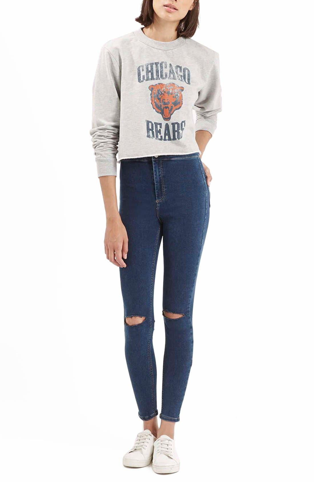 Alternate Image 2  - Topshop Moto'Joni' Ripped High Rise Skinny Jeans (Regular & Short)