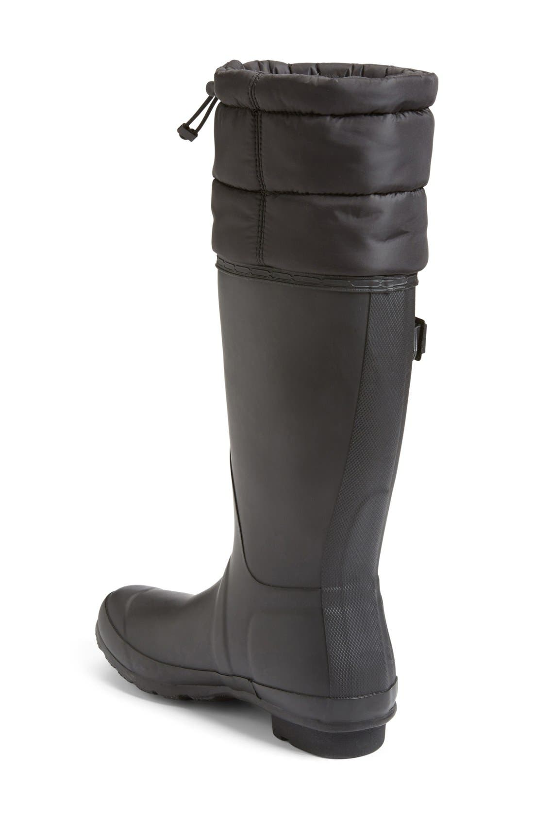 Alternate Image 2  - Hunter 'Original - Quilted Cuff' Rain Boot (Women)