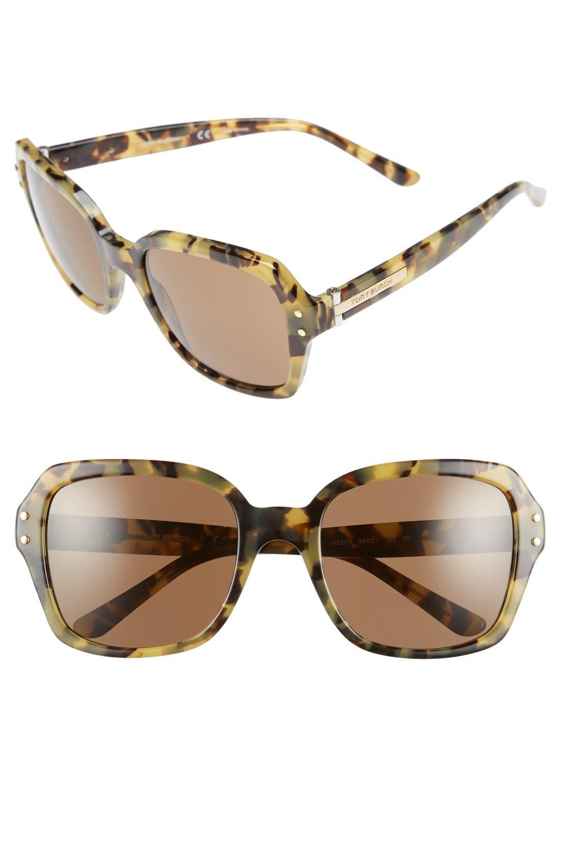 Alternate Image 1 Selected - Tory Burch 55mm Retro Sunglasses