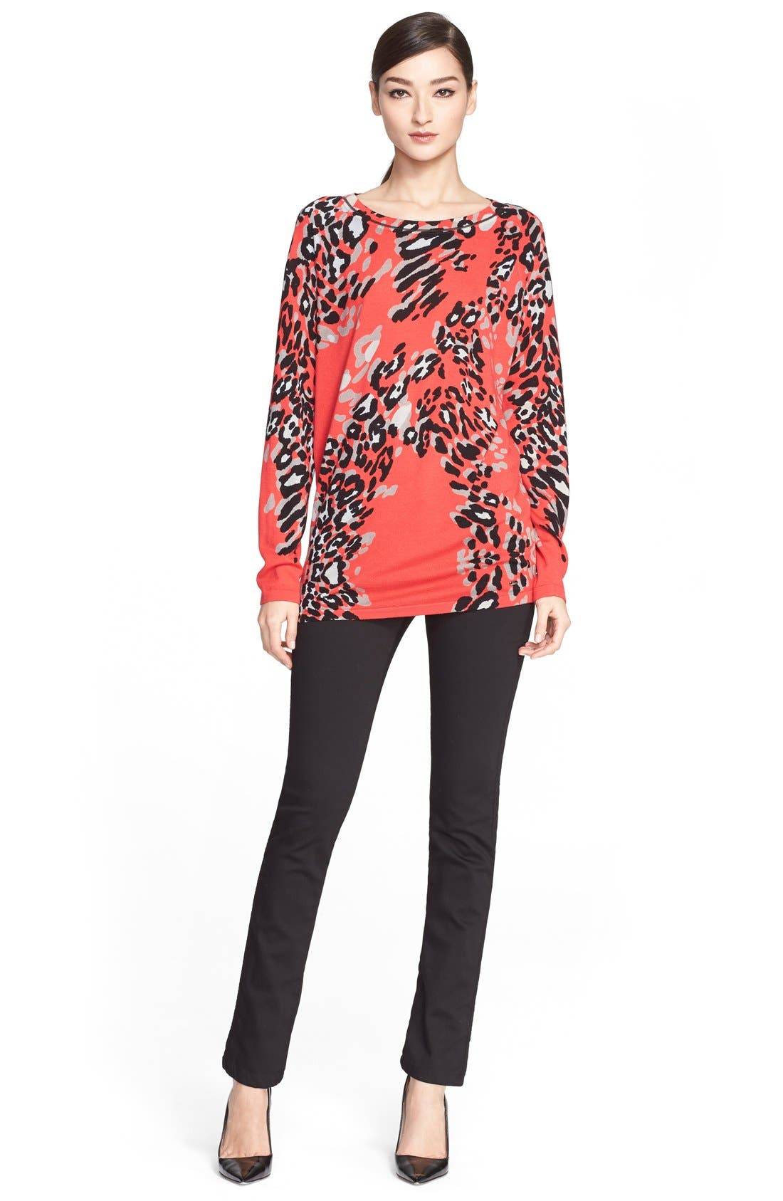 Alternate Image 4  - ESCADA Leopard Print Wool Blend Tunic