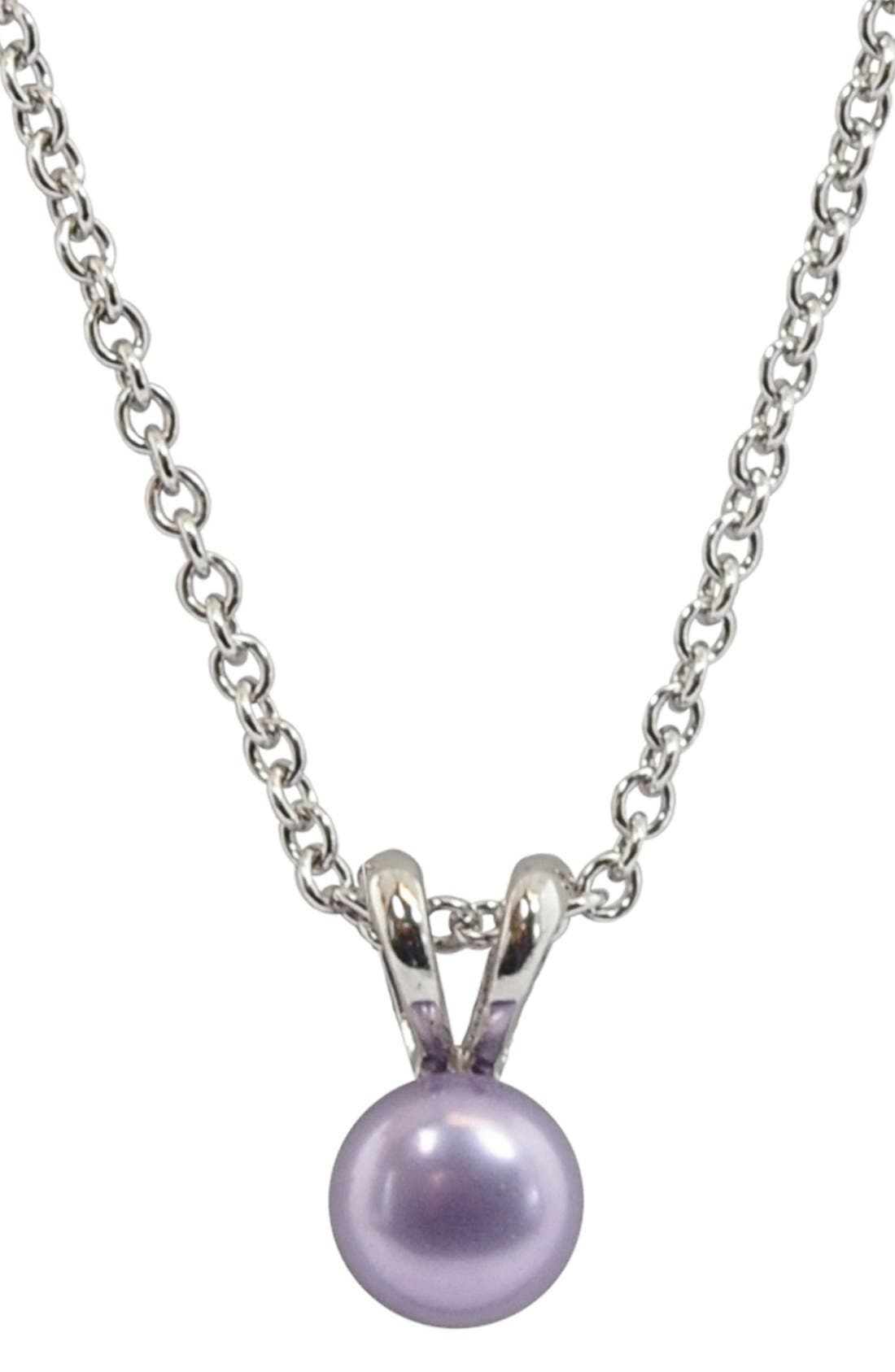 Main Image - HONORA Violet Freshwater Pearl Necklace (Girls)