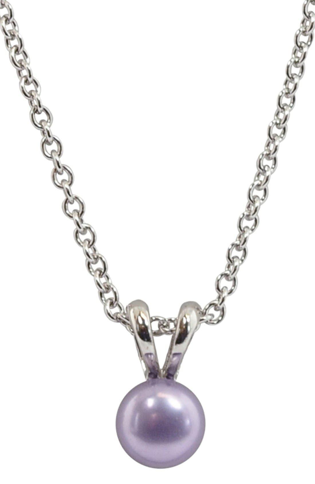Violet Freshwater Pearl Necklace,                         Main,                         color, Violet