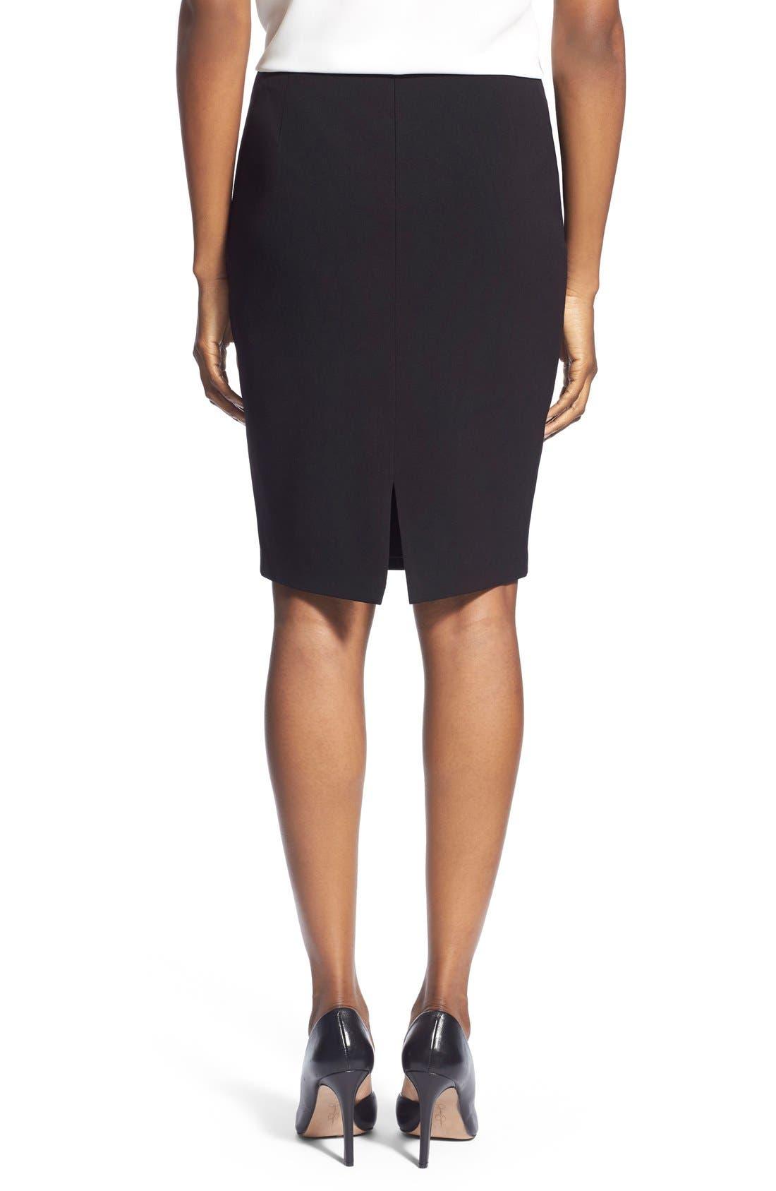 Suit Skirt,                             Alternate thumbnail 2, color,                             Black