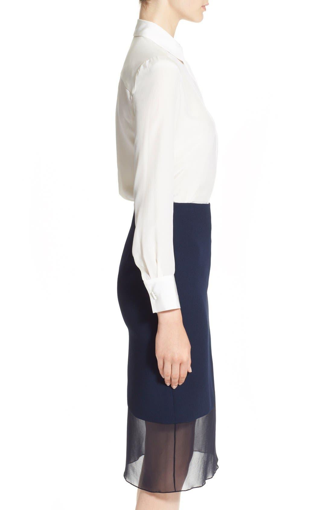 Alternate Image 5  - Prabal Gurung Button Front Silk Blouse