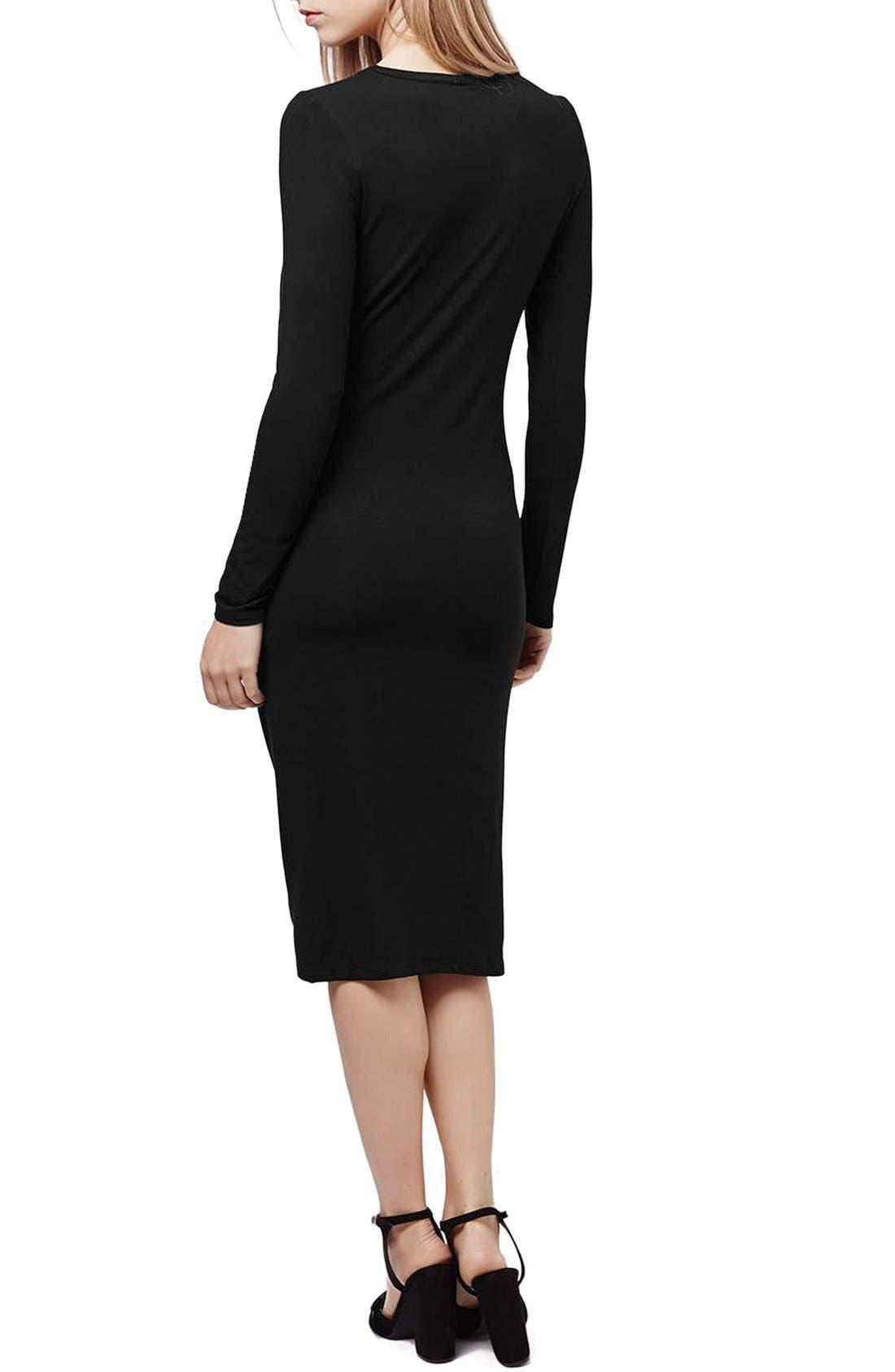 Alternate Image 2  - Topshop Knot Front Dress (Regular & Petite)