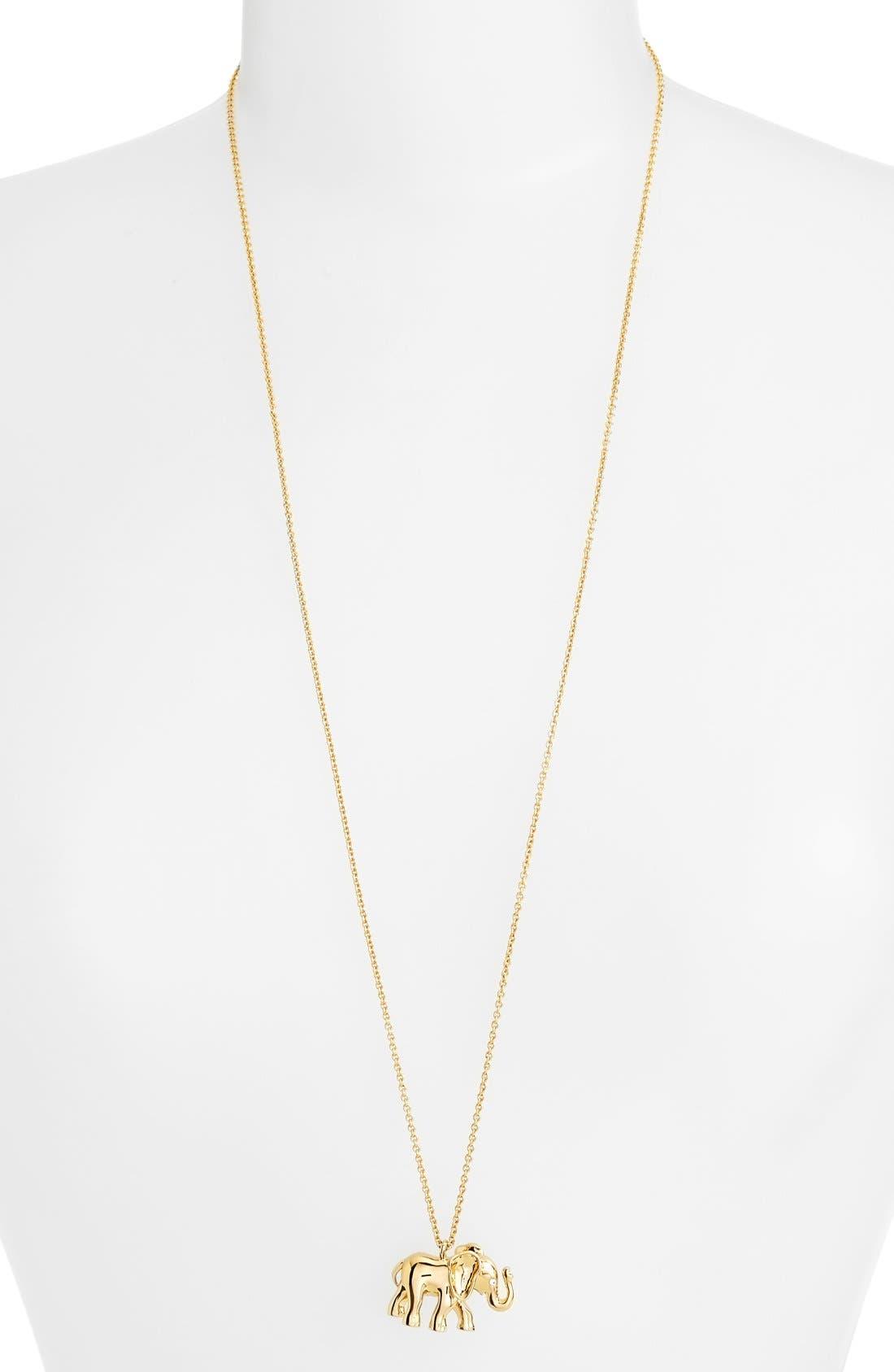 Alternate Image 2  - kate spade new york elephant pendant necklace