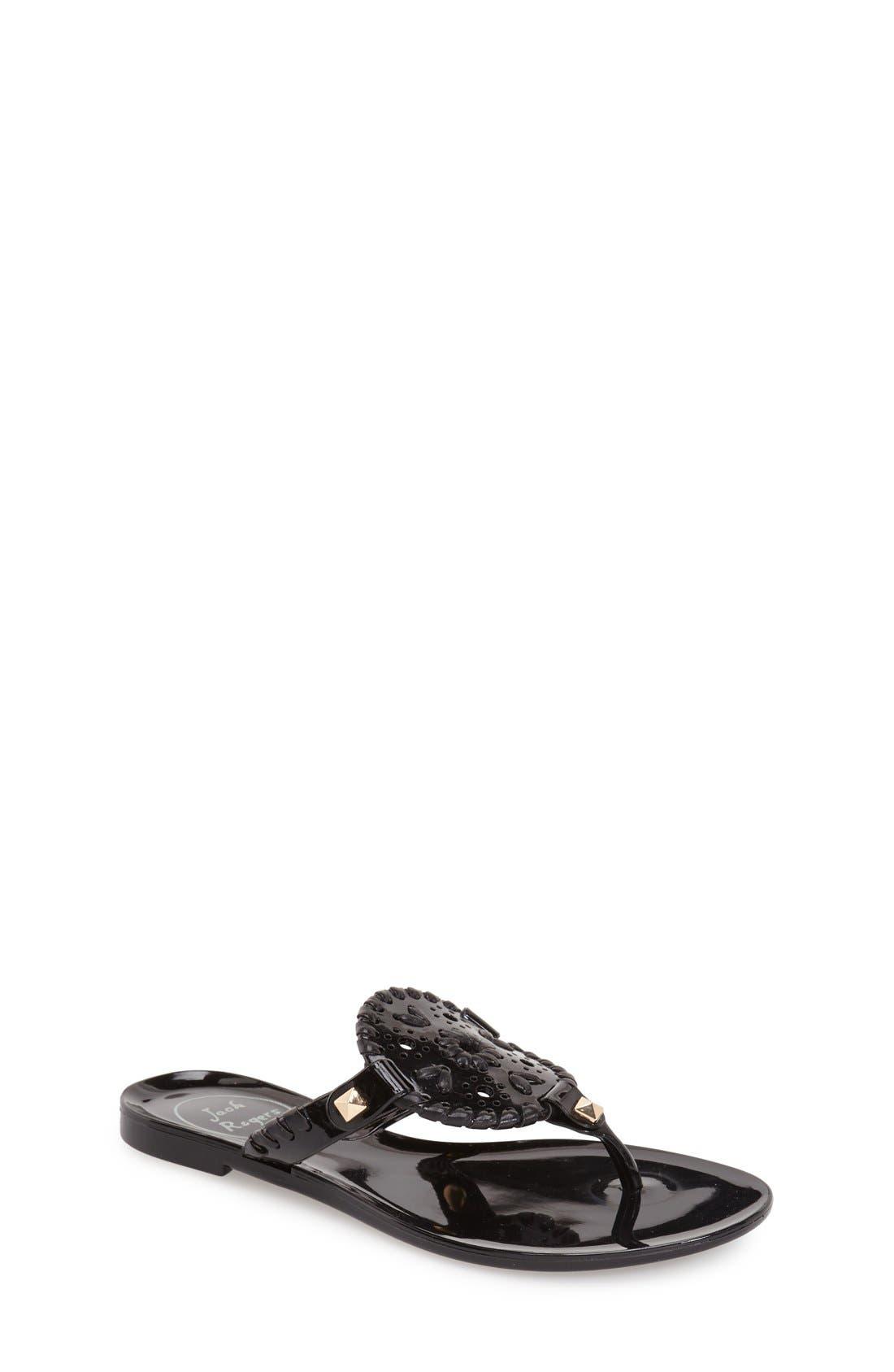 'Miss Georgica' Jelly Flip Flop,                         Main,                         color, Black