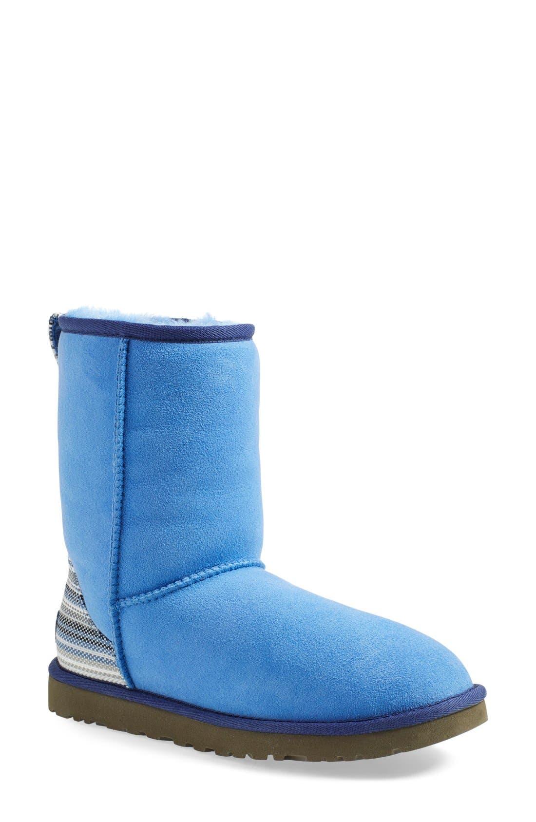 Alternate Image 1 Selected - UGG® 'Classic Short - Serape' Water Resistant Boot (Women)