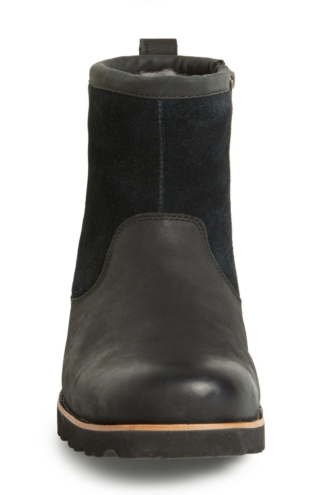 Hendren TL Waterproof Zip Boot,                             Alternate thumbnail 3, color,                             Black