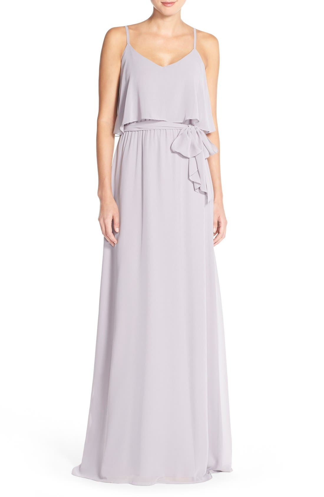 Ceremony by Joanna August 'Dani' Popover Bodice Chiffon Maxi Dress
