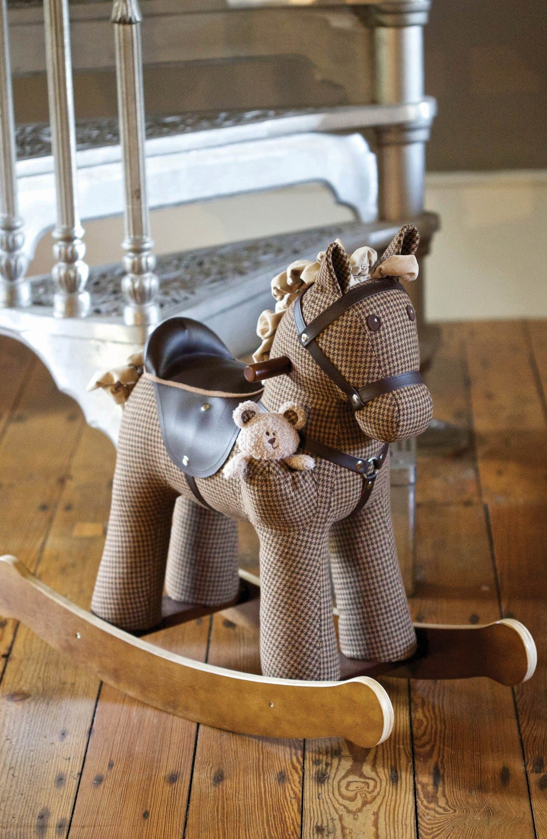 Rocking Horse & Stuffed Animal,                             Alternate thumbnail 3, color,                             Houndstooth