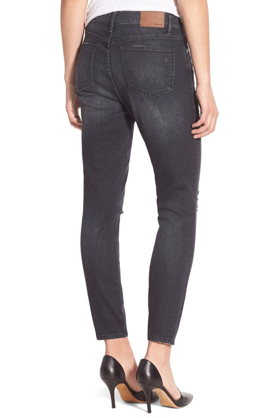 Alternate Image 3  - Madewell 'High Riser' Skinny Skinny Jeans (Kincaid Wash)