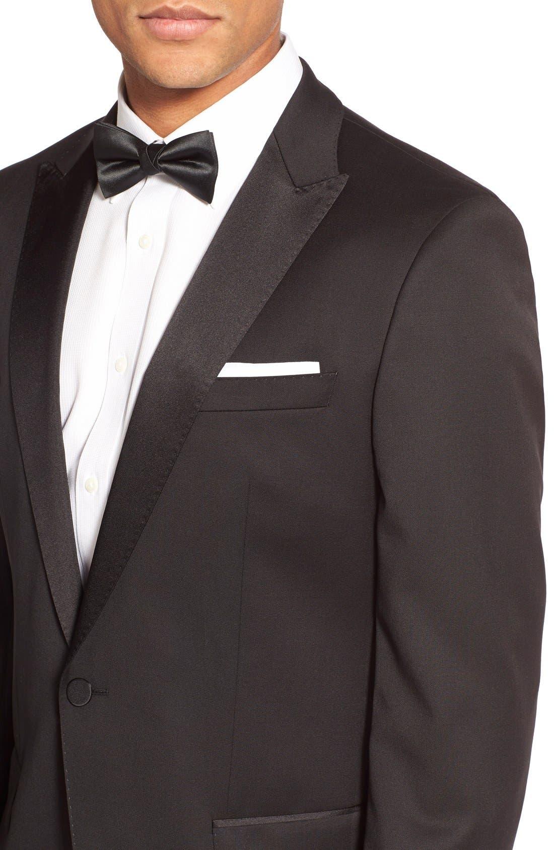 Alternate Image 4  - BOSS Trim Fit Wool Tuxedo