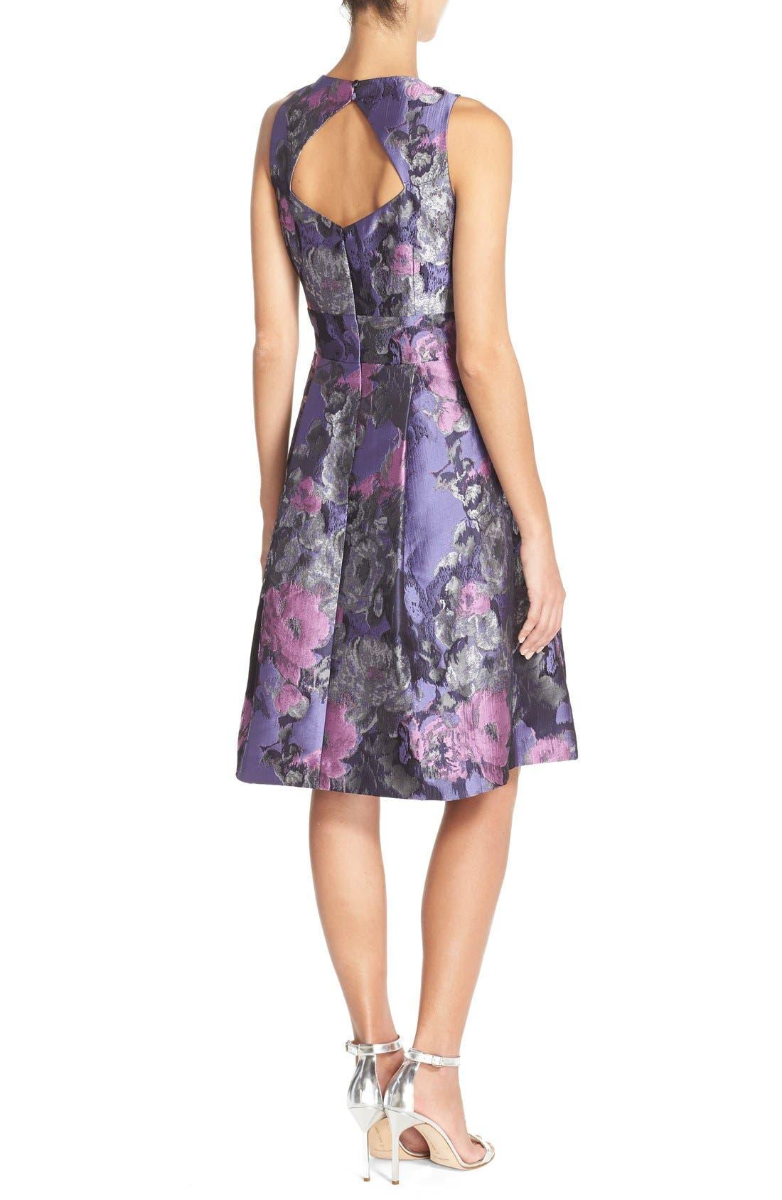 Alternate Image 2  - Eliza J Embellished Jacquard Fit & Flare Dress (Regular & Petite)