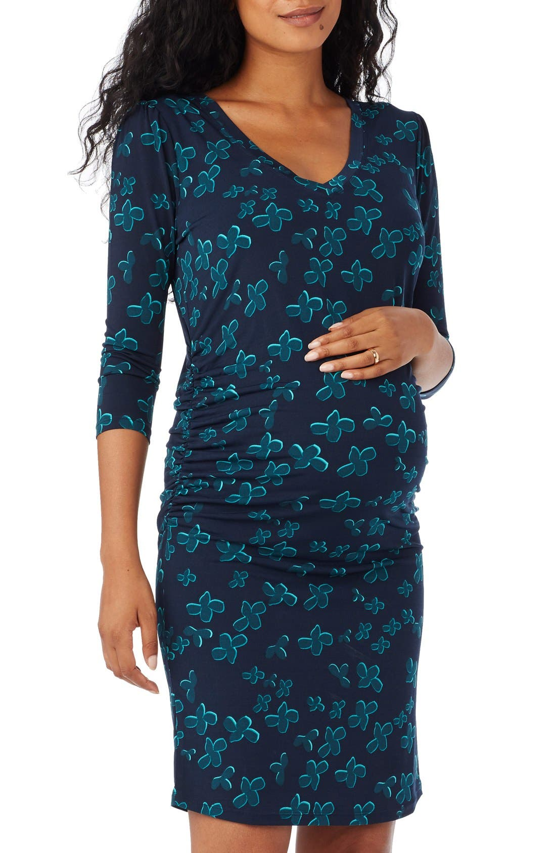 Alternate Image 3  - Rosie Pope 'Stephanie' Knit Maternity Dress
