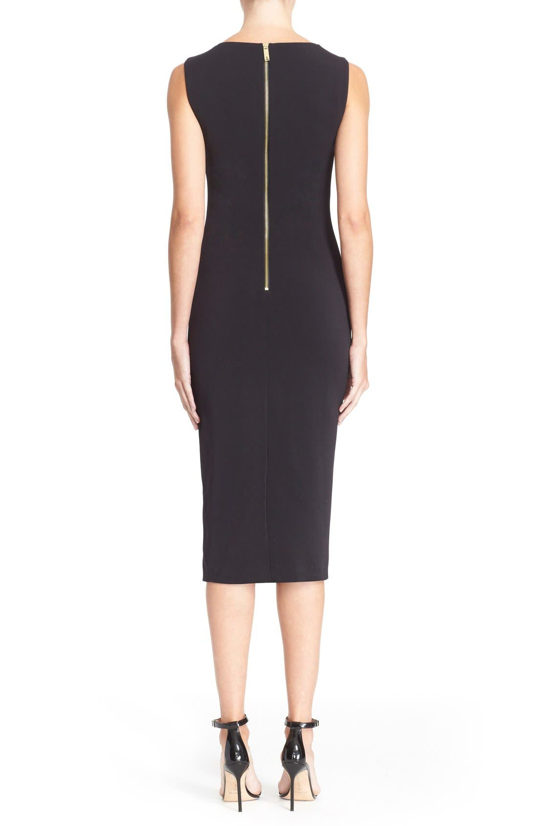 Alternate Image 2  - Ted Baker London 'Tammara' Embroidered Midi Sheath Dress